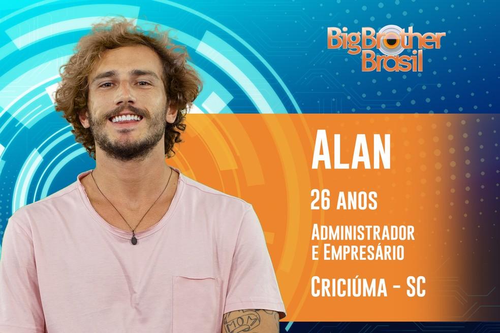 Alan tem 26 anos e é de Criciúma (SC) — Foto: TV Globo