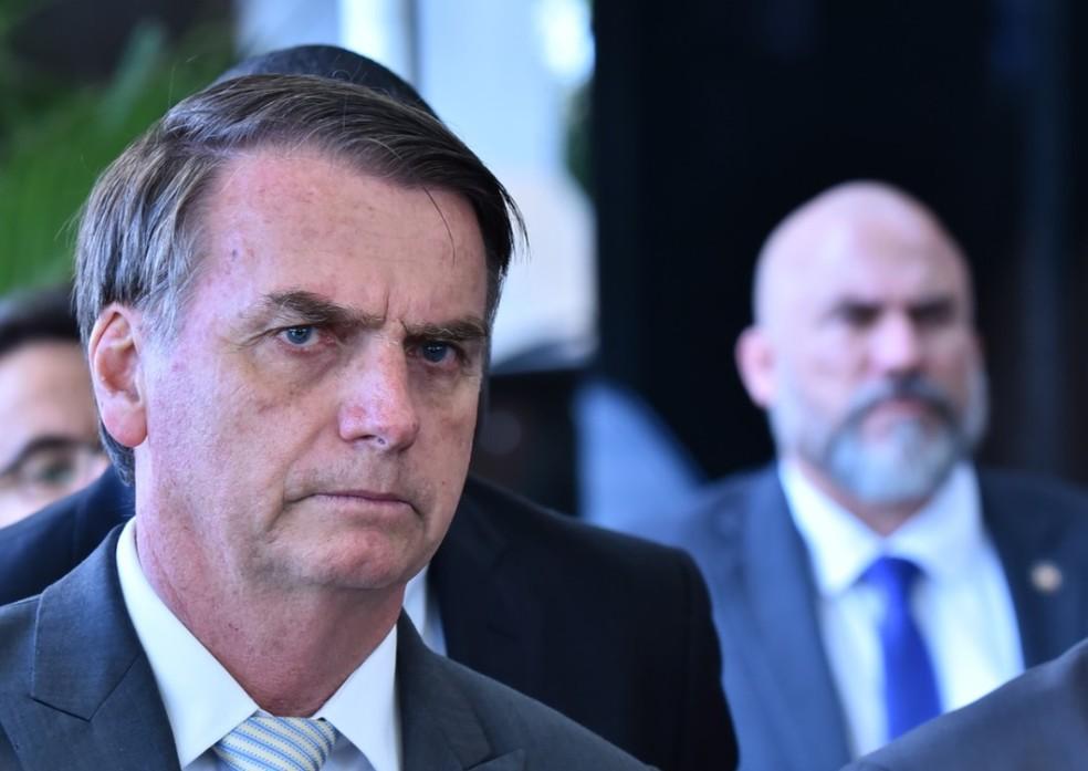 O presidente eleito Jair Bolsonaro durante entrevista no gabinete de transição, em Brasília, nesta semana — Foto: Rafael Carvalho/Governo de Transição
