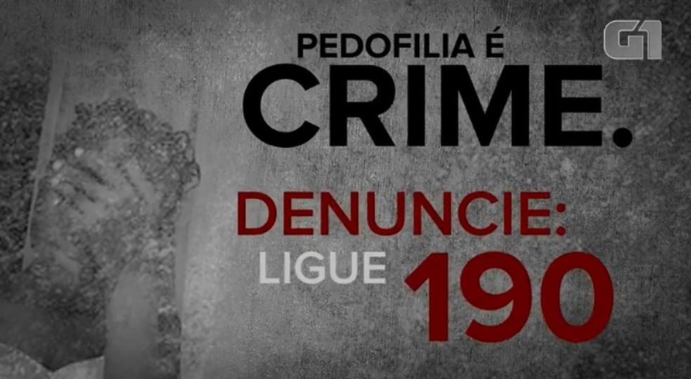 -  Data visa conscientizar a população para denunciar o crime  Foto: Reprodução/G1