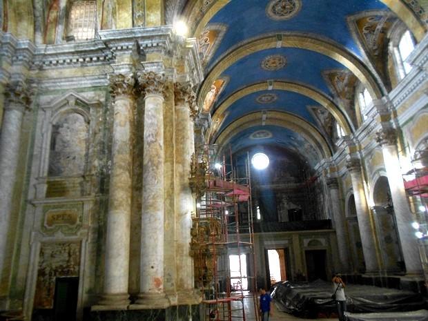Seminários discutem o processo de restauração da Igreja do Carmo, em Belém. (Foto: Divulgação)