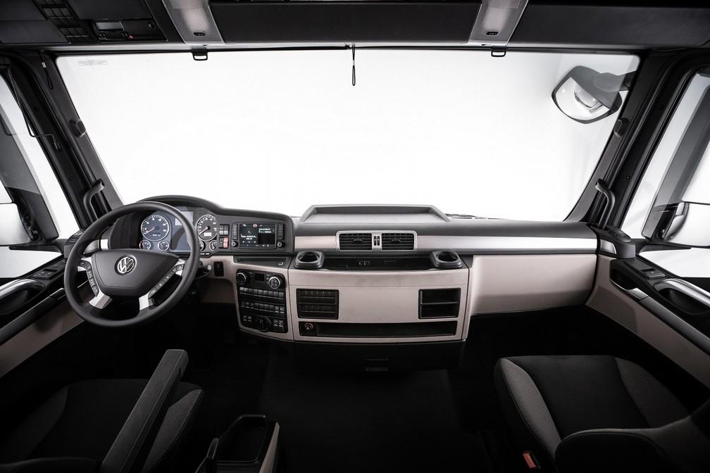 Cabine do novo Volkswagen Meteor — Foto: Divulgação