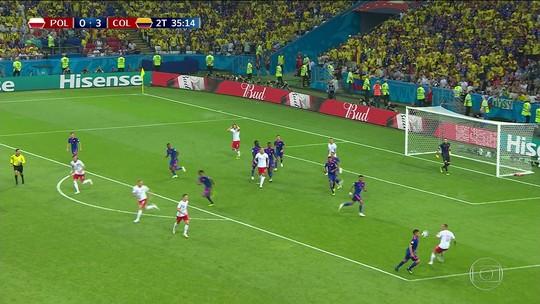 Chapéu, assistências e dribles à vontade: James Rodríguez dá show contra a Polônia
