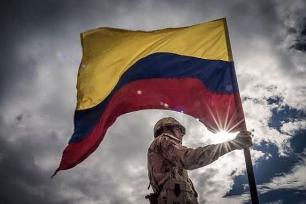 Soldado da Colômbia em foto oficial divulgada pelo Exército — Foto: Reprodução/Twitter/Exército Nacional da Colômbia
