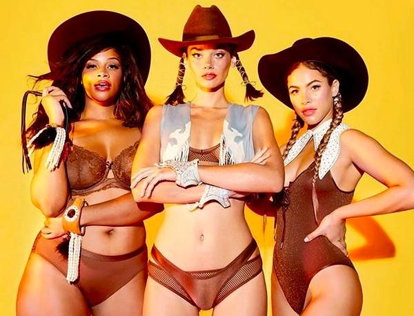 As modelos da marca de roupas pessoal da cantora Rihanna (Foto: Instagram)
