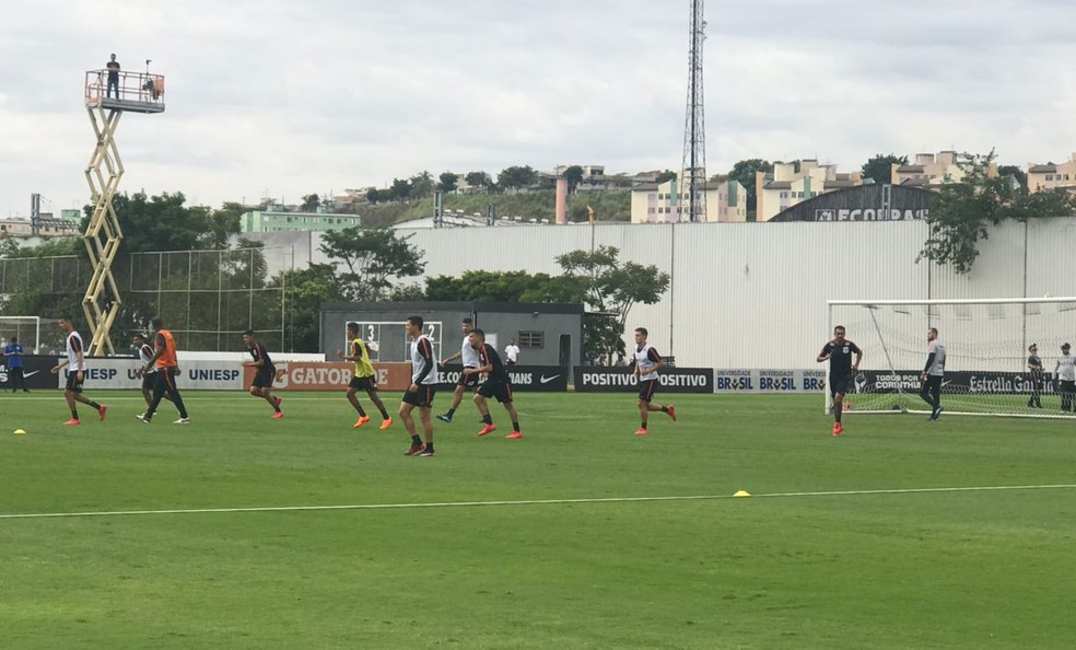 Treino do Corinthians neste sábado (Foto: André Hernan)