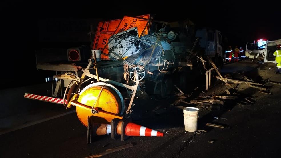 Acidente foi registrado na BR-101, em Araquari — Foto: PRF/Divulgação