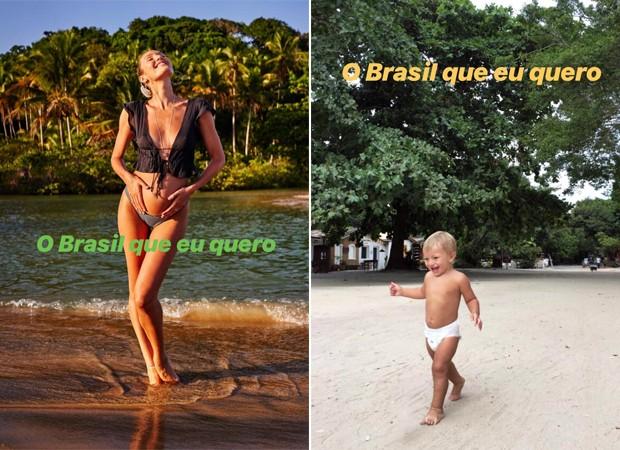 Candice Swanepoel e o filho, Anacã (Foto: Reprodução / Instagram)