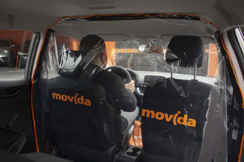 Película para motoristas de app da Movida — Foto: Divulgação