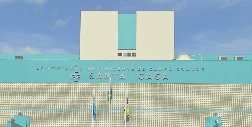 Santa Casa de Campo Grande, MS — Foto: Reprodução/ TV Morena