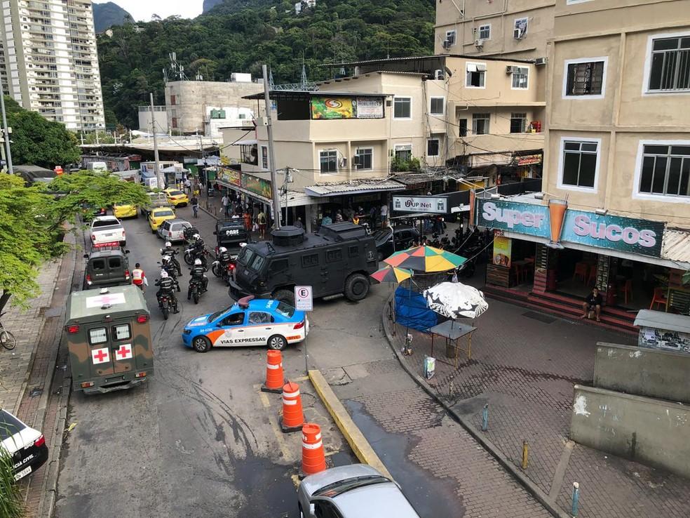 Uma das entradas da comunidade da Rocinha, na Zona Sul do Rio (Foto: Carlos Brito/ G1)