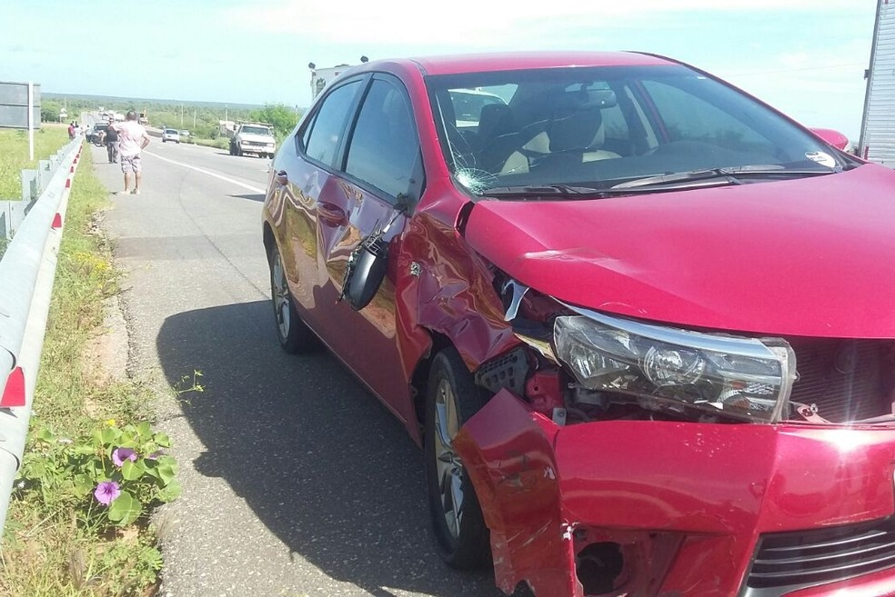 Na BR-304, motociclista morreu após colisão com um Corolla (Foto: Crédito: Wilton Alves/Mossoró 190)