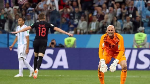 Caballero lamenta falha no primeiro gol