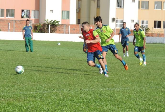 Jogadores do Sampaio vem realizando treinamento desde o último dia 19 de dezembro (Foto: Sampaio /  Divulgação)