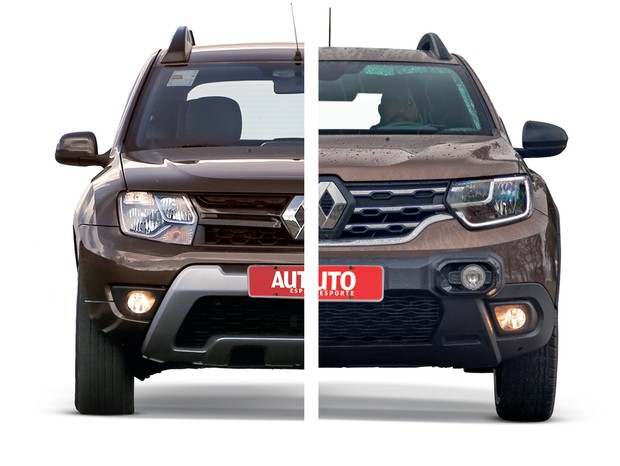 Novo Renault Duster Dianteira Comparação (Foto: Autoesporte)