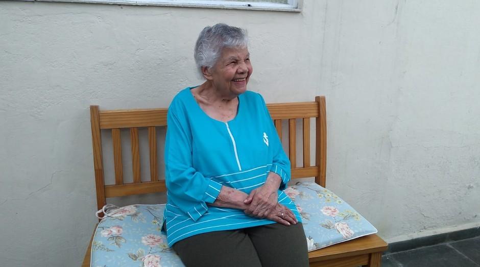 Tia Cida vai fazer 106 anos em 2019 (Foto: Reprodução)