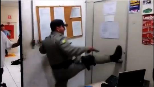 Vídeo mostra resgate de funcionários presos em depósito durante roubo a celulares em loja de Trindade