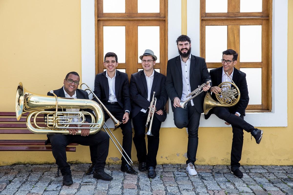 Quinteto de Metais da OSP apresenta concertos didáticos em Mogi das Cruzes