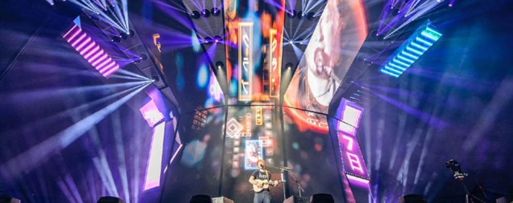 Estrutura do show de Ed Sheeran — Foto: Divulgação/Livepass
