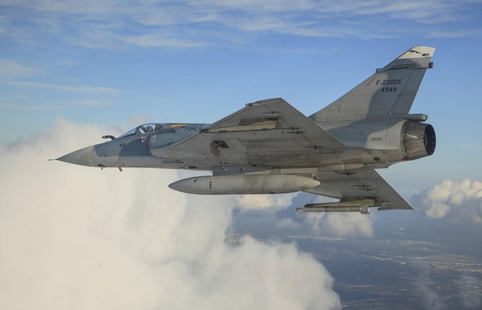 Força Aérea Brasileira coloca à venda 11 caças Mirage — Foto: Agência Força Aérea/Cb V. Santos/Divulgação