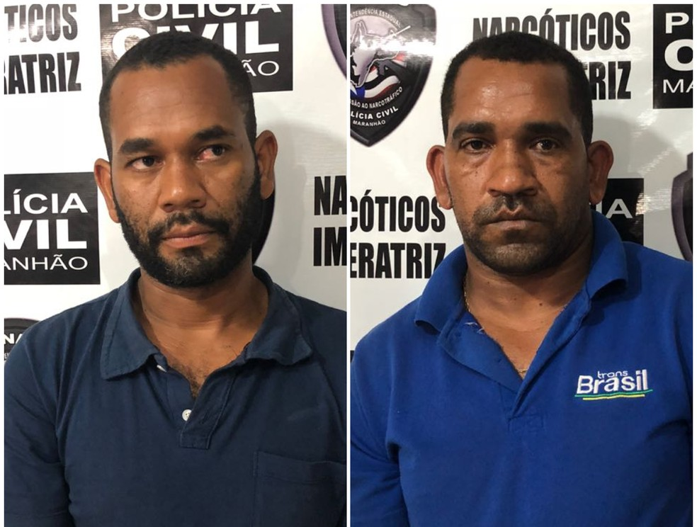 José Roberto Coelho Pereira e Leobino Coelho Pereira foram presos por transportar 216 kg de maconha (Foto: Divulgação/Polícia Civil)