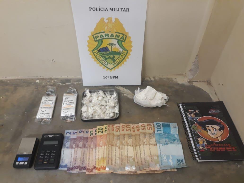 Suspeito preso por tráfico utilizava aplicativo de mensagens e máquina de cartão para vender drogas, diz PM - Notícias - Plantão Diário