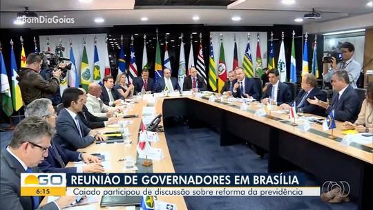 Caiado participa de reunião sobre a reforma da previdência, em Brasília