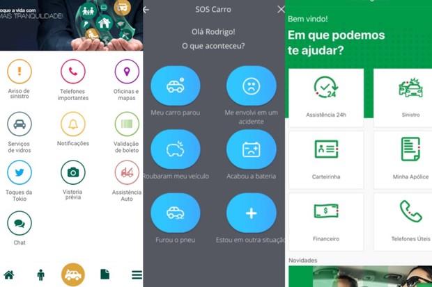 aplicativos de seguradoras (Foto: Divulgação)
