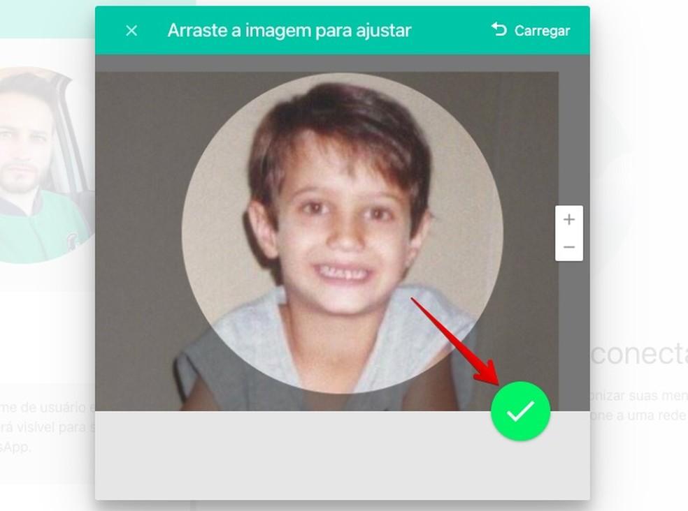 Alterando foto de perfil do WhatsApp Web — Foto: Reprodução/Helito Beggiora