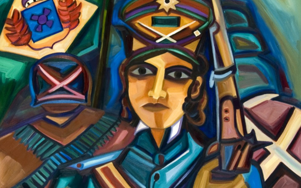 Obra de Iza Costa 'Maria Quitéria Mulheres Geurreiras' — Foto: Reprodução/Iza Costa