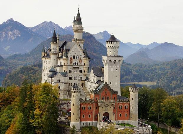 Palácio Neuschwastein, Alemanha (Foto: Schwangau/ Reprodução)