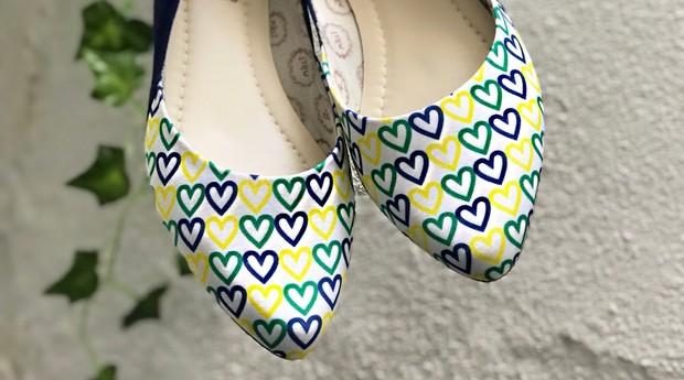 Sapatilhas feitas para a Copa do Mundo da Mil e Uma Sapatilhas (Foto: Divulgação)