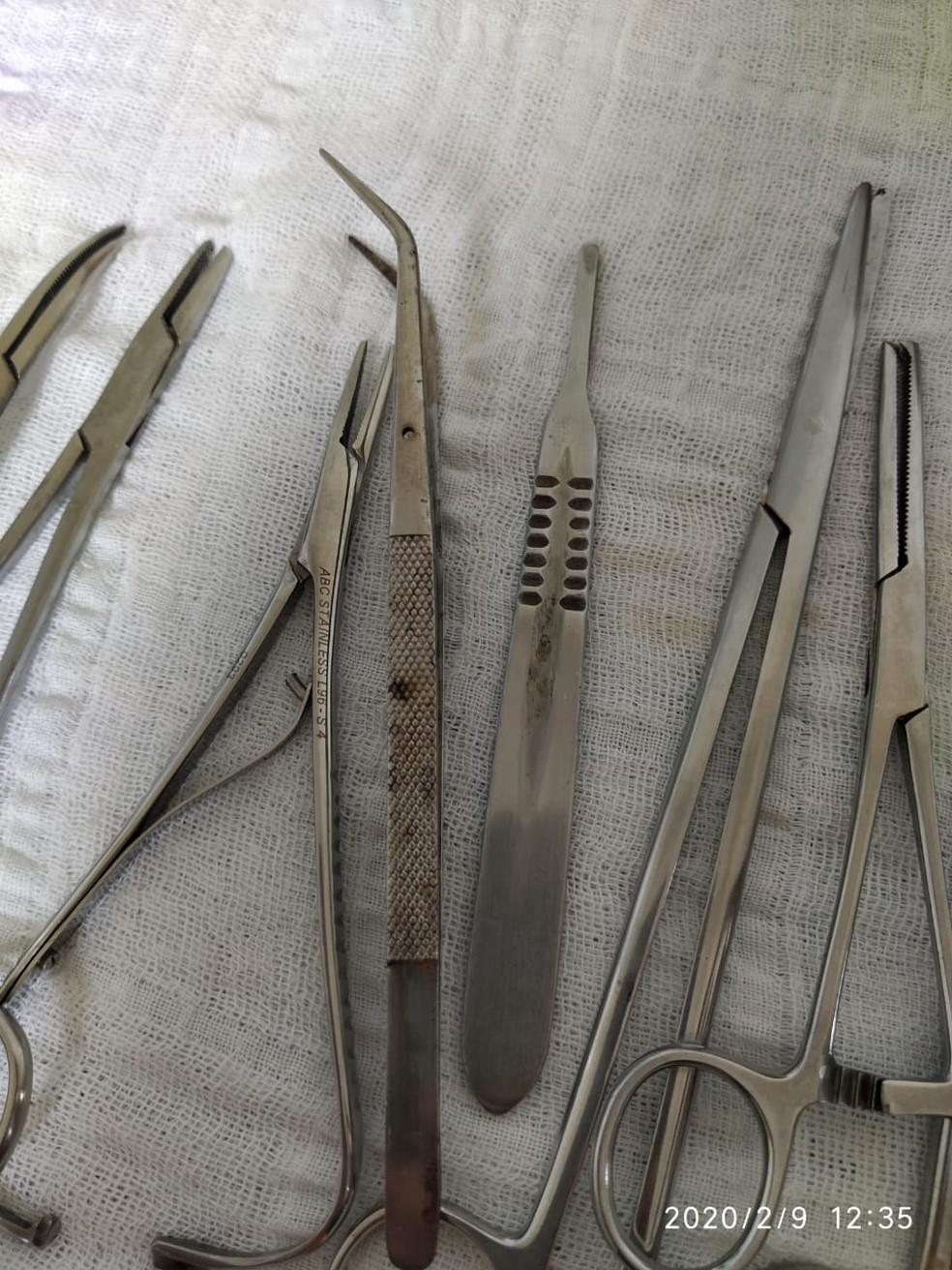 Coren encontou materiais sem esterelização adequada durante operação  — Foto: Coren/Divulgação