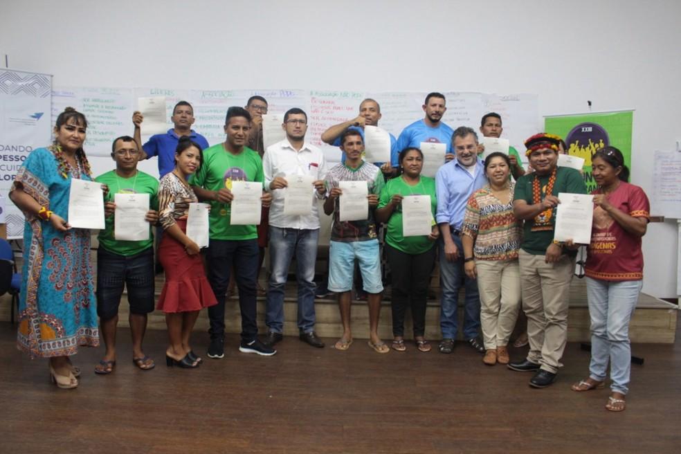 Organizações indígenas e ribeirinhas assinam carta de apoio a Fundo Amigos da Amazônia — Foto: Divulgação/Fas