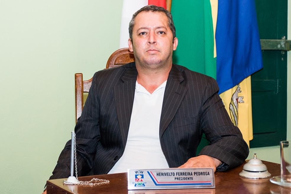 -  Presidente da Câmara, Herivelto Pedrosa, foi condenado a 47 anos de reclusão e 16 anos de detenção. Outras 14 pessoas foram condenadas.  Foto: Divulg