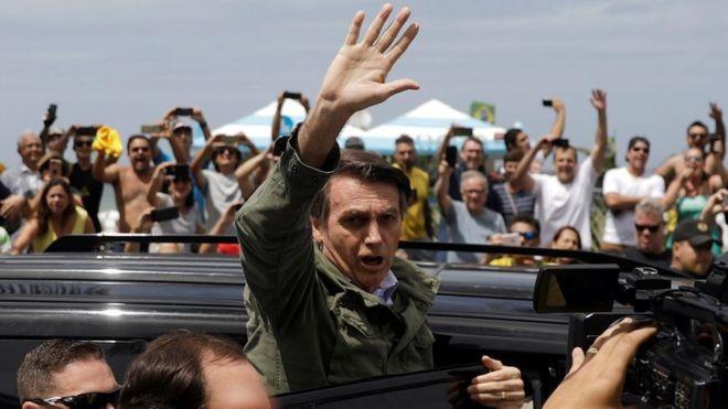 Bolsonaro foi eleito presidente neste domingo (Foto: REUTERS)