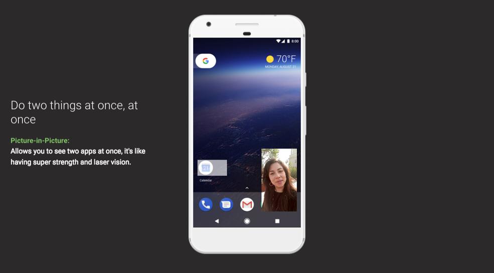 Android 8.0 Oreo deixa assistir a vídeos do YouTube junto com outros apps (Foto: Divulgação/Google)