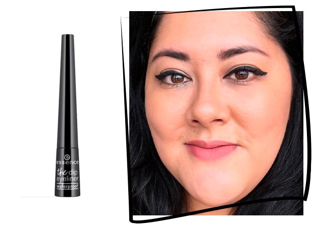 Fabiana Sato testa o The Dip Eyeliner da Essence (Foto: Reprodução)