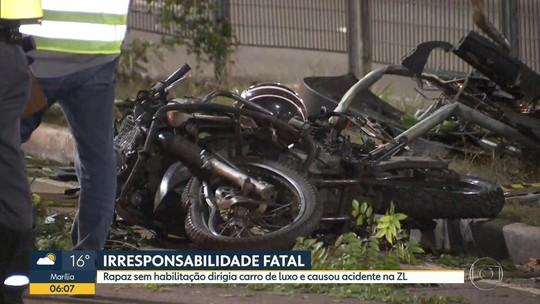 Motorista de 18 anos sem CNH mata motociclista em SP