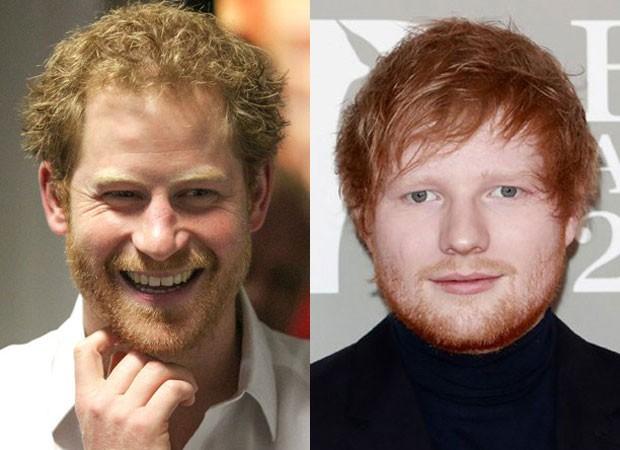 O príncipe Harry e Ed Sheeran: troca em souvenir (Foto: Reprodução Instagram)