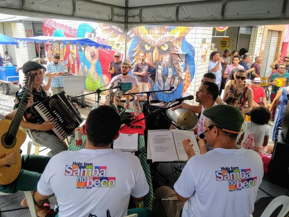 Projeto Hoje Tem Samba no Beco recebe Rogério Madureira e Ricardo Baya neste fim de semana em Natal — Foto: Rick Ricardo