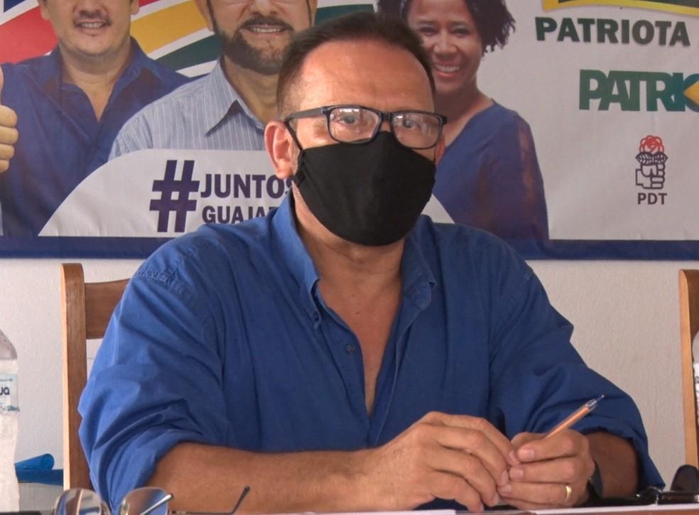 João Soares, candidato do Patriota em Guajará-Mirim — Foto: Reprodução/Rede Amazônica