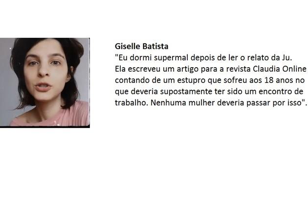 Giselle Batista publicou suas impressões em vídeo no Instagram (Foto: Reprodução)