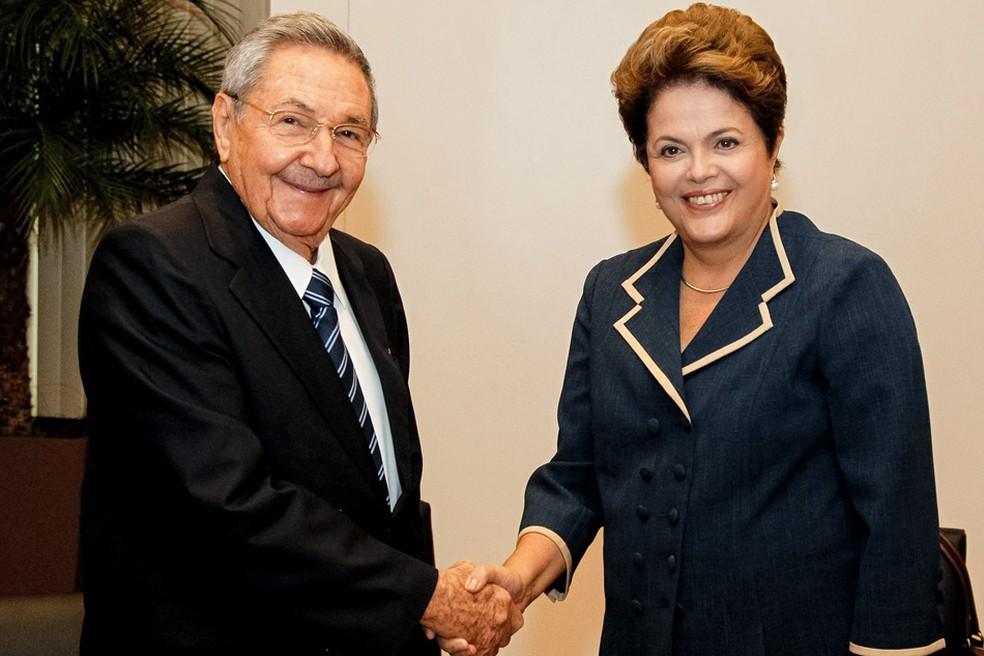Dilma e Raúl Castro durante encontro na Rio+20 (Foto: Roberto Stuckert Filho/PR)