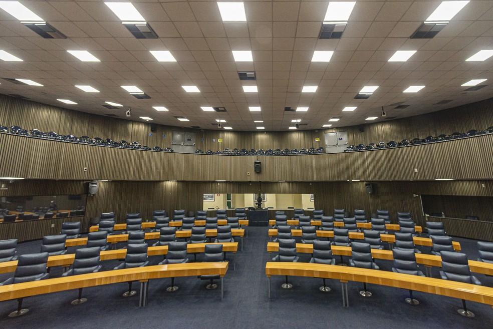 Plenário da Câmara Municipal de SP em foto de julho de 2020 — Foto: Anderson Lira/Framephoto/Estadão Conteúdo