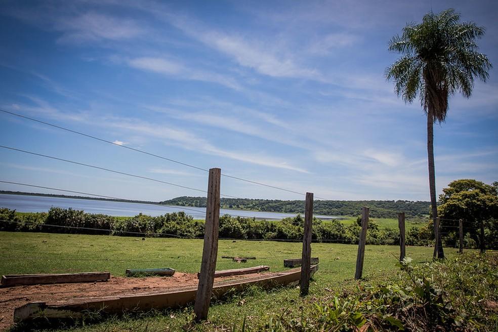 Baía de Chacororé começara a ser recuperada — Foto: Christiano Antonucci/Secom-MT