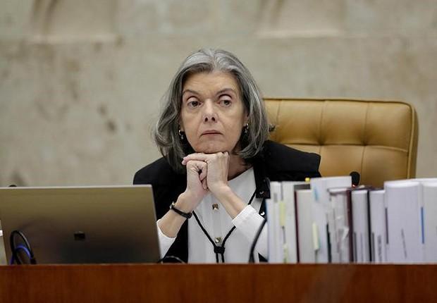 Presidente do STF, ministra Cármen Lúcia, durante sessão da corte em Brasília (Foto: Ueslei Marcelino/Reuters)