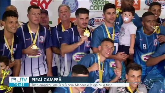 Em final cheia de emoção, Piraí empata com Mendes e é campeã da Copa Rio Sul de Futsal 2019