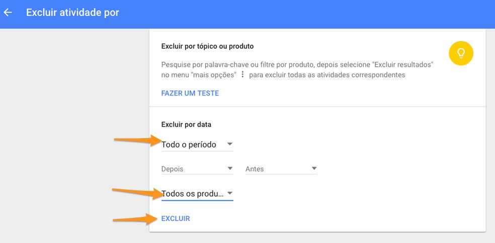 Como deletar todos os seus dados do Google (Foto: Reprodução/Felipe Vinha)