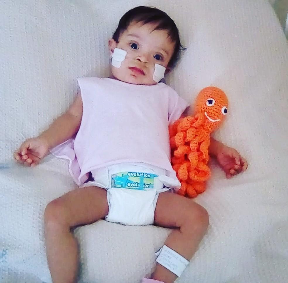 Ana Beatriz Oliveira, de 8 meses, morreu no Hospital Materno Infantil de Brasília após parada cardiorrespiratória — Foto: Arquivo pessoal