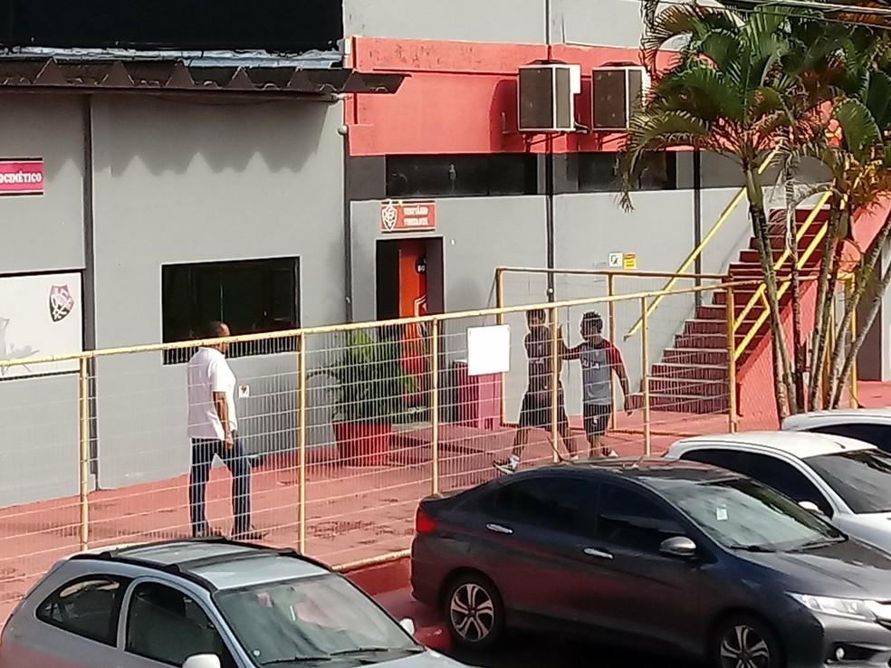 f4aaa3a01faf7 ... Arouca apareceu na Toca do Leão nesta segunda-feira — Foto  Ruan Melo